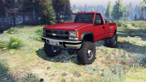 Chevrolet Regular Cab Dually red для Spin Tires