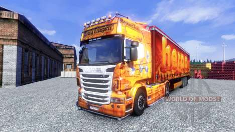 Скин HERPA на тягач Scania для Euro Truck Simulator 2