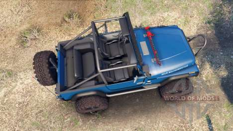 Jeep YJ 1987 Open Top blue для Spin Tires