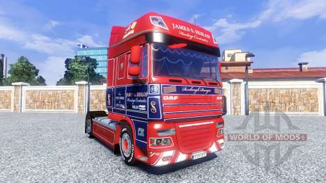 Скин James S. Hislop на тягач DAF для Euro Truck Simulator 2
