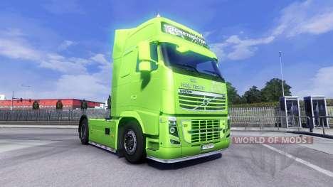 Скин XXL GHP на тягач Volvo для Euro Truck Simulator 2