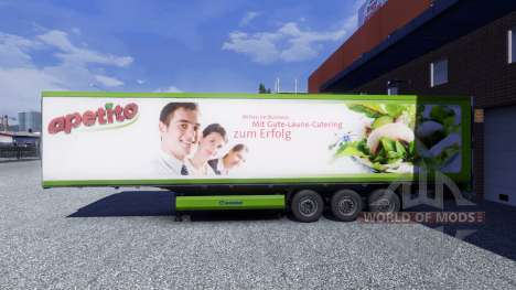 Скин Apetito на полуприцеп для Euro Truck Simulator 2