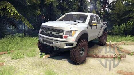 Ford Raptor SVT v1.2 factory ignot silver для Spin Tires