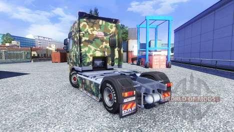 Скин Tarnmuster на тягач DAF XF для Euro Truck Simulator 2