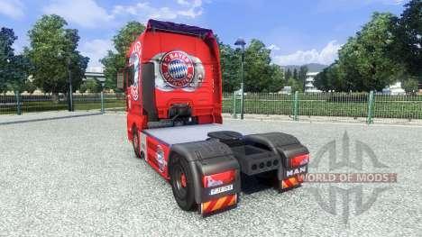 Скин FC Bayern Munchen на тягач MAN для Euro Truck Simulator 2