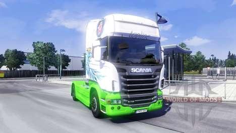 Скин Gryf на тягач Scania для Euro Truck Simulator 2