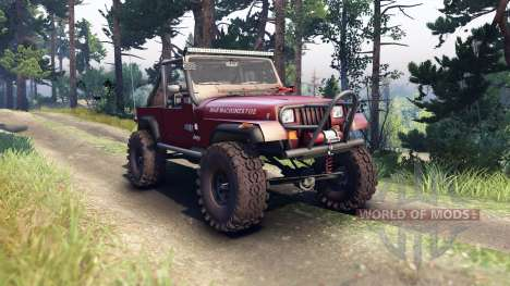 Jeep YJ 1987 Open Top maroon для Spin Tires