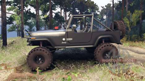 Jeep YJ 1987 Open Top gray для Spin Tires