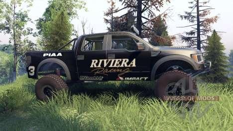 Ford Raptor Pre-Runner riviera для Spin Tires