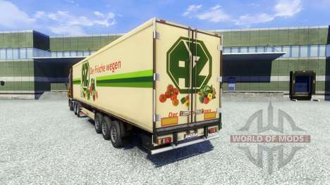 Скин AZ Kempen на полуприцеп для Euro Truck Simulator 2