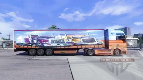 Скин Showtruck на тягач MAN для Euro Truck Simulator 2