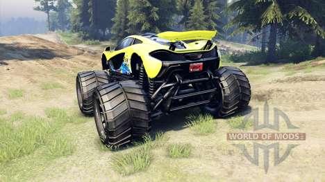 McLaren P1 Monster для Spin Tires