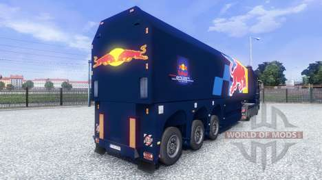 Скин Red Bull Racing Hochglanz на тягач MAN для Euro Truck Simulator 2