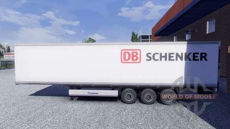 Скин DB Schenker на полуприцеп для Euro Truck Simulator 2