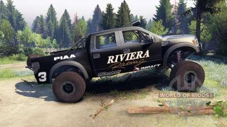 Ford Raptor Pre-Runner v1.1 riviera для Spin Tires