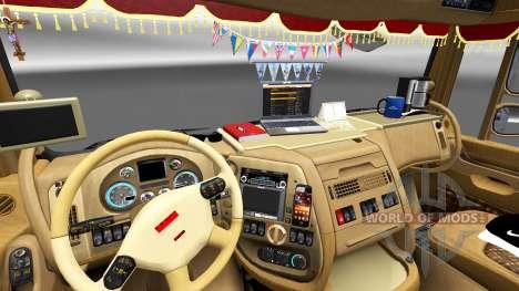 Новый интерьер в тягачах DAF для Euro Truck Simulator 2