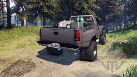 Chevrolet Regular Cab Dually gray для Spin Tires