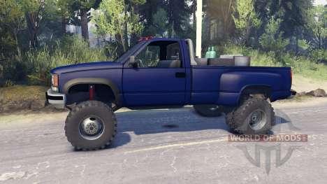 Chevrolet Regular Cab Dually blue для Spin Tires