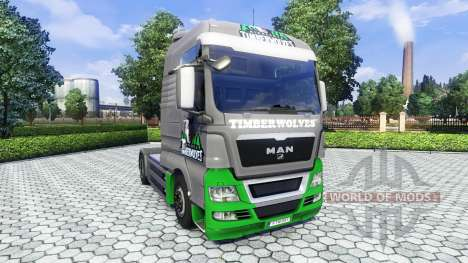 Скин TimberWolves на тягач MAN для Euro Truck Simulator 2