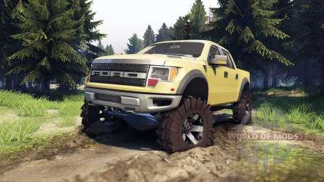 Ford Raptor SVT v1.2 olive для Spin Tires