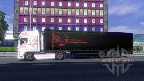 Скин Patrick Vogtt на тягач DAF XF для Euro Truck Simulator 2