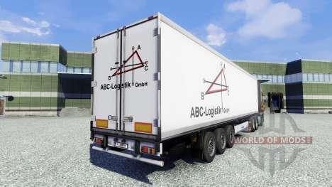 Скин ABC Logistic на полуприцеп для Euro Truck Simulator 2