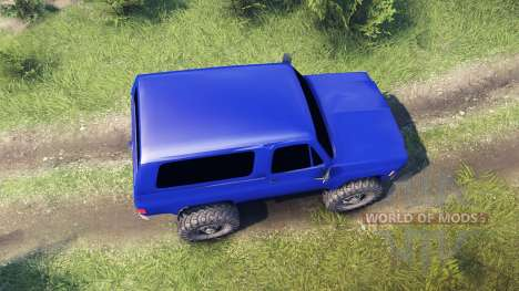 Chevrolet K5 Blazer 1975 v2.5 blue для Spin Tires