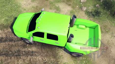 Dodge Ram 3500 dually v1.1 green для Spin Tires