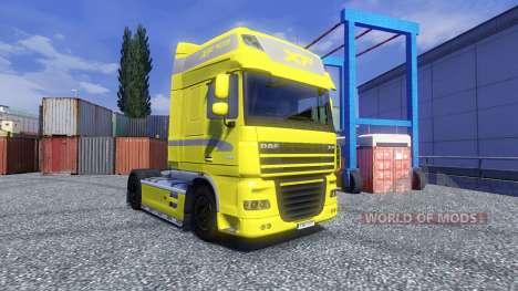 Скин Gelb Edition на тягач DAF XF для Euro Truck Simulator 2