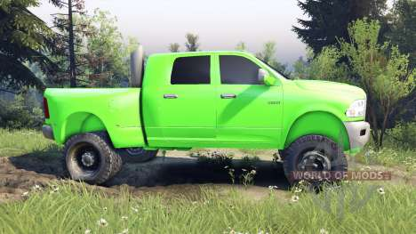 Dodge Ram 3500 dually v1.1 green для Spin Tires