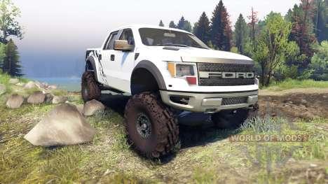 Ford Raptor SVT v1.2 factory white для Spin Tires