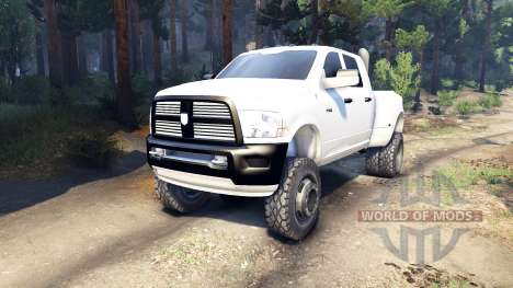 Dodge Ram 3500 dually v1.1 white для Spin Tires