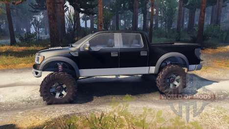 Ford Raptor SVT v1.2 black-gray для Spin Tires
