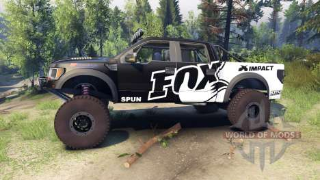 Ford Raptor Pre-Runner v1.1 fox для Spin Tires