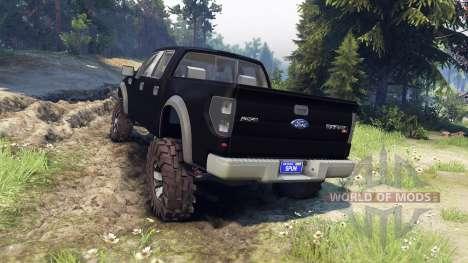 Ford Raptor SVT v1.2 matte black для Spin Tires
