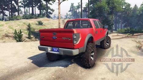 Ford Raptor SVT v1.2 red-gray для Spin Tires
