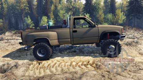 Chevrolet Regular Cab Dually tan для Spin Tires
