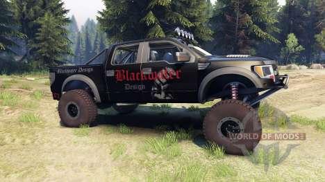 Ford Raptor Pre-Runner v1.1 blackwater для Spin Tires
