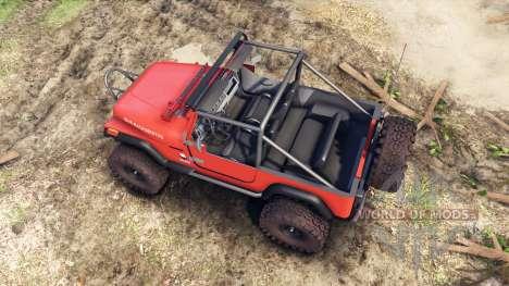 Jeep YJ 1987 Open Top orange для Spin Tires