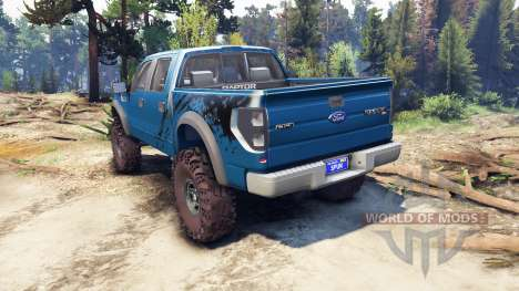 Ford Raptor SVT v1.2 factory blue flame для Spin Tires
