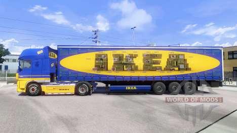 Скин IKEA на тягач DAF XF для Euro Truck Simulator 2