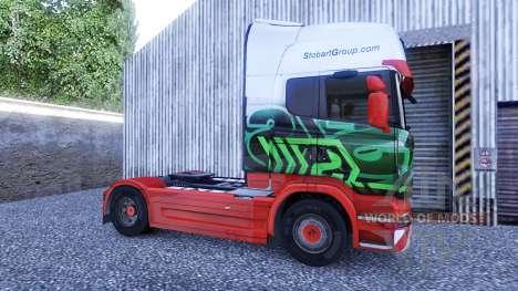 Скин Eddie Stobart на тягач Scania для Euro Truck Simulator 2