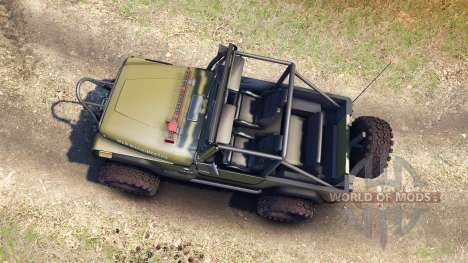 Jeep YJ 1987 Open Top green для Spin Tires