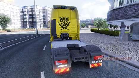 Скин Transformers на тягач MAN для Euro Truck Simulator 2
