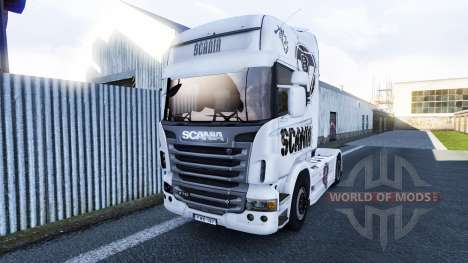 Скин Scania V8 на тягач Scania для Euro Truck Simulator 2