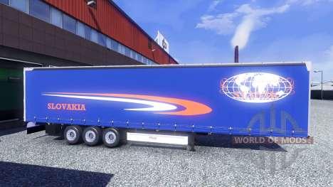 Скины Fliegl на полуприцепы для Euro Truck Simulator 2