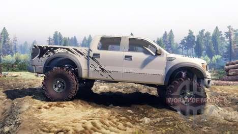 Ford Raptor SVT v1.2 factory pale adobe для Spin Tires