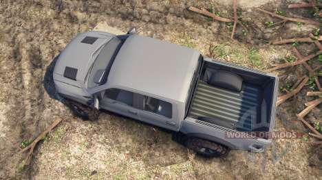 Ford Raptor SVT v1.2 matte gray для Spin Tires