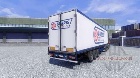Скин Burris Logistics на полуприцеп для Euro Truck Simulator 2