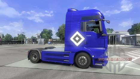 Скин Hamburg fahrt MAN на тягач MAN для Euro Truck Simulator 2